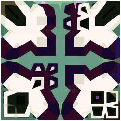 'AsymGreenPurple' an abstract art print